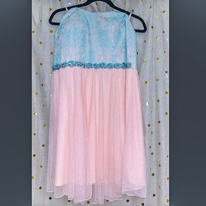 Deb strapless mint pink dress 👗